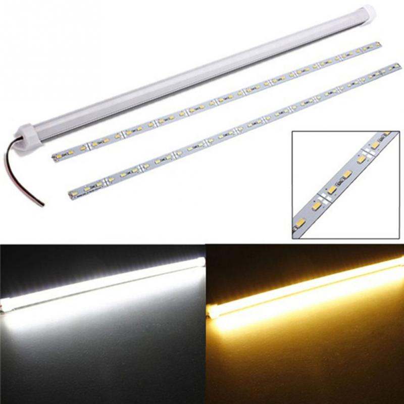 1pc 50cm 9w 5630smd 36 led waterproof rigid strip bar for cabinet glasses display case light - Led Cabinet Lighting