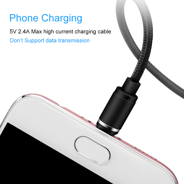 E360 Magnetic Cable For iPhone Micro USB Type C Mobile Phone Charging Cable Type-c Magnet Charger USB Cable No Data Wire