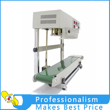 New FR-900 continuous plastic bag sealing machine,automatic sealer machine with embosing code printing automatic bag sealing machines