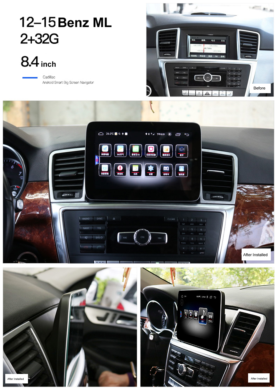 Navirider Android 8.0 car gps player for Benz ML GL 250 320 350 400 450 500 radio touch screen stereo head units tape recorder image