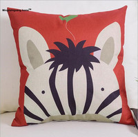 1PC Cartoon Fashion Leisure Sofa Cushion Linen Pillow Home Furnishing Office Sofa Decorative Throw Pillow