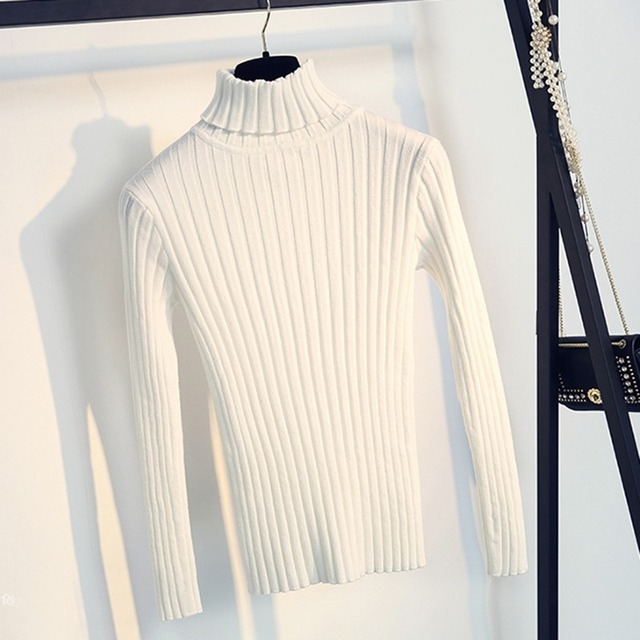 Apricot Soft Sweater For Women Turtleneck Thin Pattern Sweaters And Pullovers Tricot Pull Femme Tops Jersey Jumpers 4