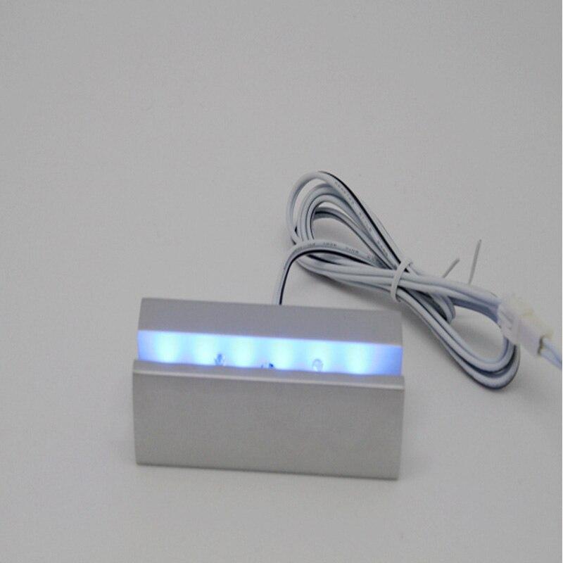 18 см Длинные атласные серебро Алюминий pantented светящаяся знак зажим противостояние, подсветкой знаки для Стекло акриловые зажим
