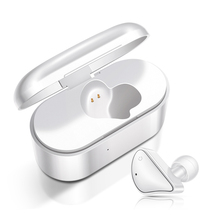 New Mini Wireless Headset Bluetooth Earphones Single Ear In Commercial Handsfree Charging Box With Soft Earbuds