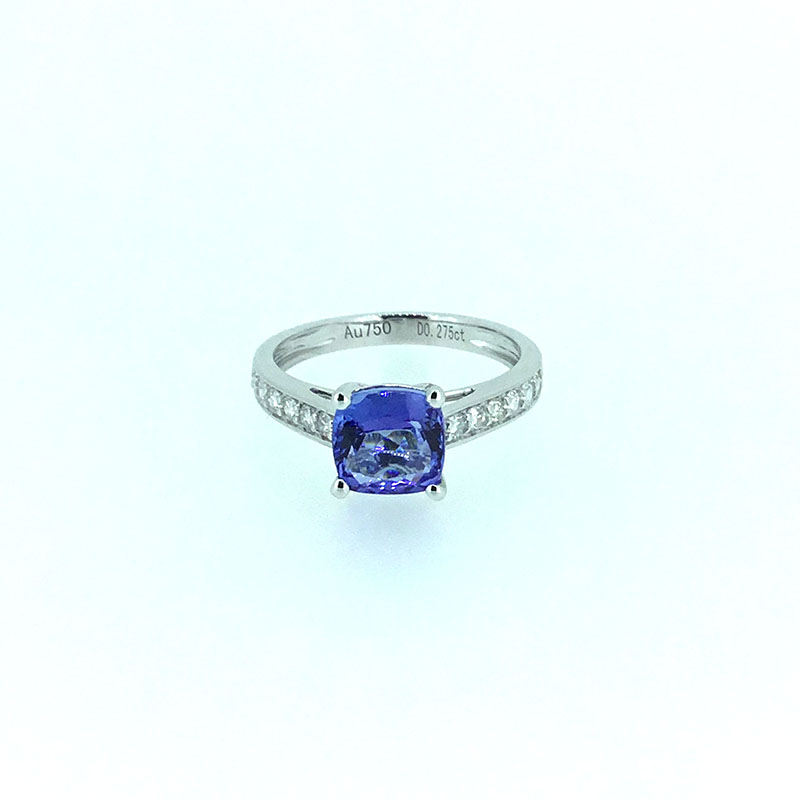ANI 18K White Gold (AU750) Women Wedding Ring Certified I/SI 1.843 ct Cushion Cut Tanzanite Diamond Ring Fine Enagement Jewelry комплекты в колыбель micuna для колыбели micuna fresh mini 3 предмета