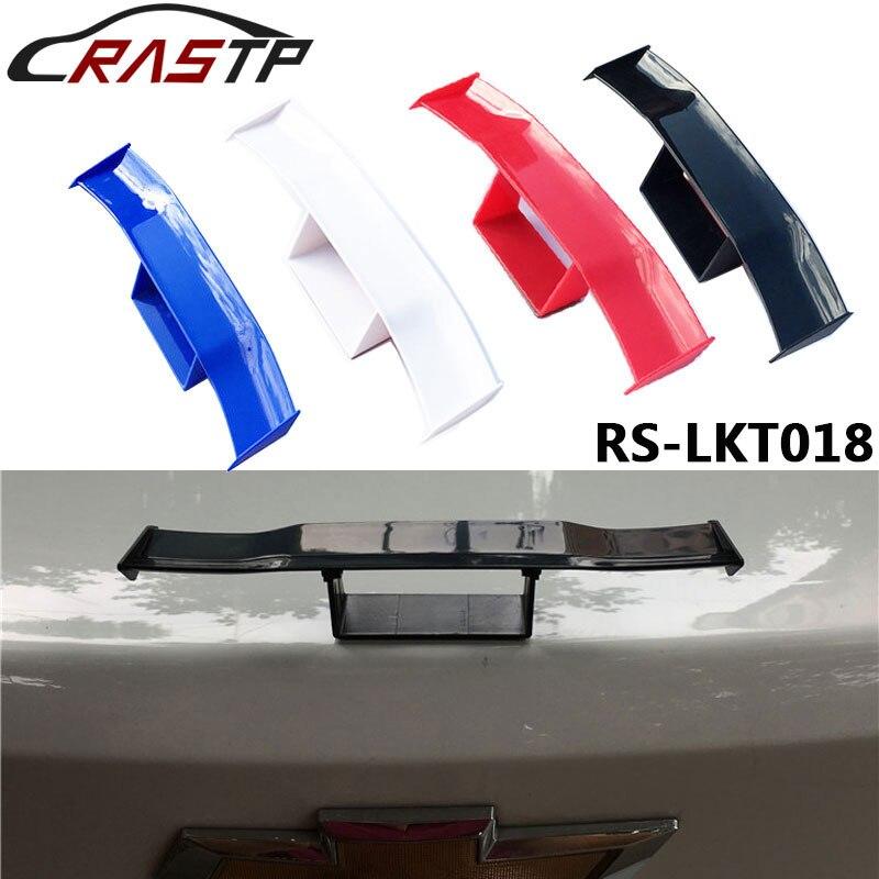 Rastp-univeral 자동차 리어 스포일러 미니 스포일러 테일 윙 소형 모델 abs 플라스틱 테일 장식 RS-LKT018