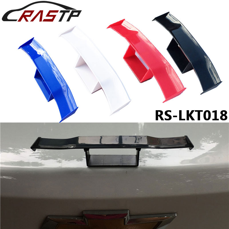 Rastp-univeral carro spoiler traseiro mini spoiler cauda asa pequeno modelo abs plástico decoração da cauda RS-LKT018