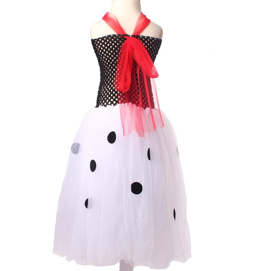 Dalmatijos karalienės mergaitės Tutu suknelė su galvos apdangalu - Vaikų apranga - Nuotrauka 4