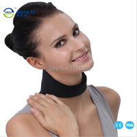 1pc New 2015 Tourmaline Magnetic Therapy Neck Massager Vertebra Protection Spontaneous Heating Belt Body Massager To