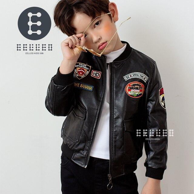 c9d68ecbccfe Boys PU Leather Jacket Boys Coats Autumn Winter Clothes 2017 ...