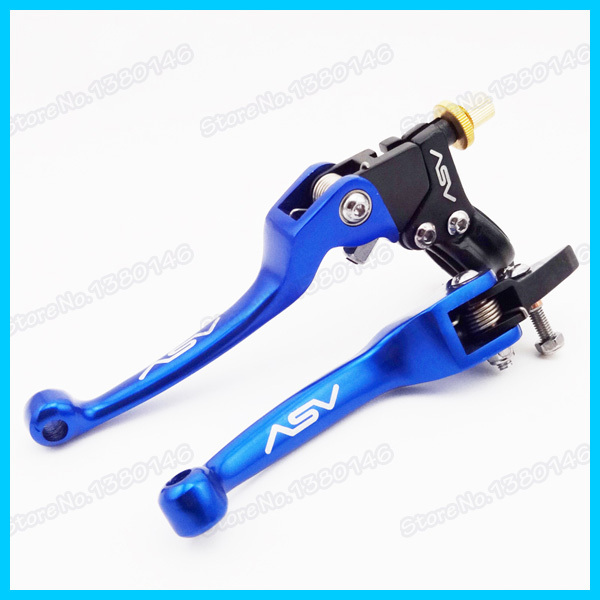 Aluminum Blue ASV Folding Brake Clutch Levers For Motocross Motorcycle Atv Pit Dirt Bike Thumpstar SSR SDG