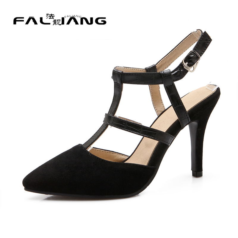 ФОТО Big Size 11 12  Sexy Buckle Strap Casual Thin Heels Women's Shoes Extreme High Heels Sandals Woman For Women