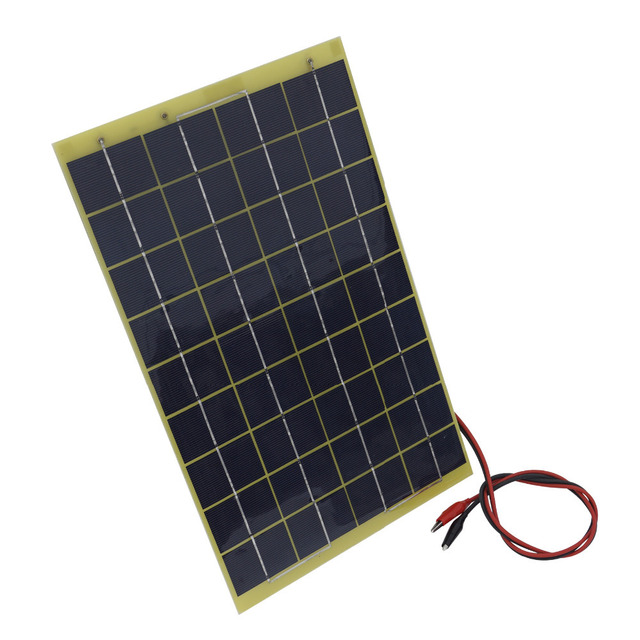 20W 2*10W Solar Cell panel for diy boat motorcycle18V Battery Charger Mono crystalline