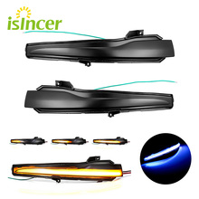 2Pcs Auto Rückspiegel Anzeige Streamer LED Dynamische Blinker Licht Für Mercedes Benz C E S Klasse w205 W213 W222 W217