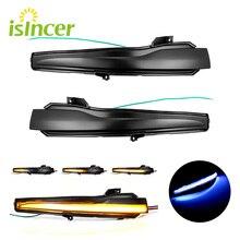 2Pcs Car Rear View Mirror Indicator Streamer LED Dynamic Turn Signal Light For Mercedes Benz C E S Class W205 W213 W222 W217