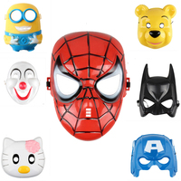 Luminous LED Mask Cosplay Cartoon Spider Man Mask Plastic Mask For Children Kids