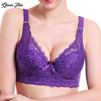 2017 Selling Hot Foreign Trade Ultra-thin Lace Sexy Thin Cotton Cup Plump Big Push Up Bra Bralette Encaje Sexy Bra Underwear