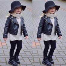 ARLONEET/Новинка года; модное весенне-осеннее пальто из искусственной кожи короткая Детская куртка на молнии для маленьких мальчиков и девочек; верхняя одежда; CC14