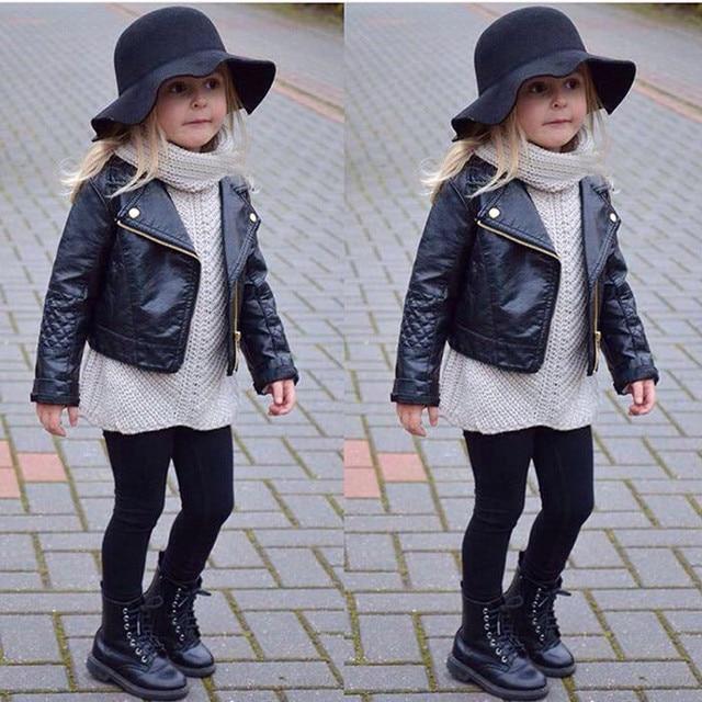 Arloneet 2018 Новая мода весна и осень и ветер из искусственной кожи кожаные пальто для маленьких мальчиков и девочки короткая Детская куртка L0924