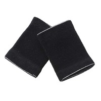 Pair Black Stretchy Band Letters Print Wrist Support Protector