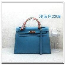 EU and US style High End Quality Genuine Leather Tote  Handbag , 2016 fashion Cowhide Handbag for Successful Women
