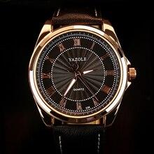 Mens Relojes de Primeras Marcas de Lujo 2017 YAZOLE de Negocios Reloj de pulsera Hombres Reloj Whatch Relogio masculino reloj de Cuarzo de Oro C