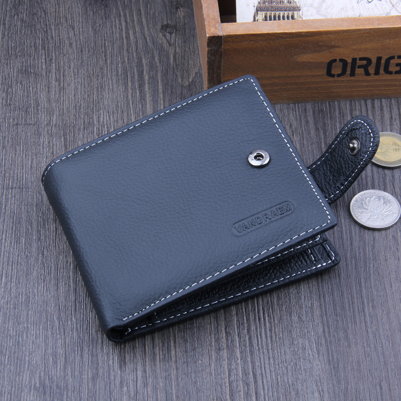 Wallet Men Genuine Leather Men Wallets Purse Short Male Clutch Hasp Wallet Mens 2017 Designer Brand Money Bag Quality Guarantee jinbaolai wallet men genuine leather zipper hasp coin purse short male leather men wallets money bag quality guarantee carteira