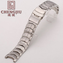 Solid Curved Watch Metal Bracelet For Casio For EF-524 Stainless Steel Strap Watch Belt 22mm Watch Strap With Buckle Tools Gifts