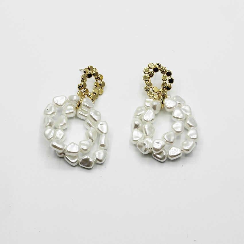 New Japan and South Korea temperament wild pearl earrings ladies cold wind  summer earrings female models cf8e3e596886