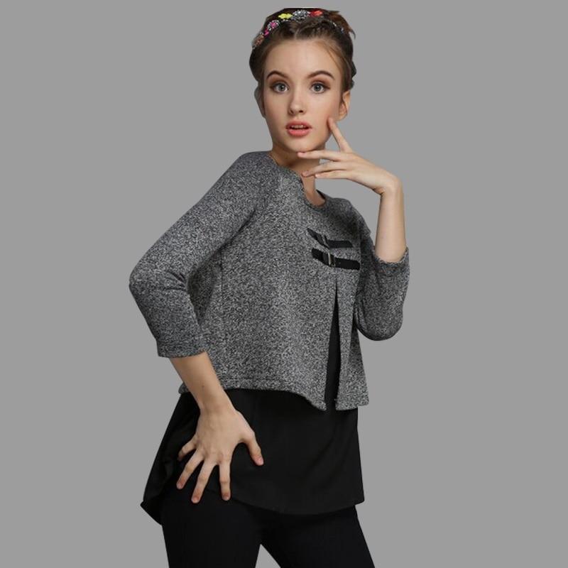 XXXXXL ženske jesenski bombažni kašmir puloverji srednjih let 6xl modne priložnostne vrhnje vrhnje obleke Simpatičen ženski pulover Kawaii