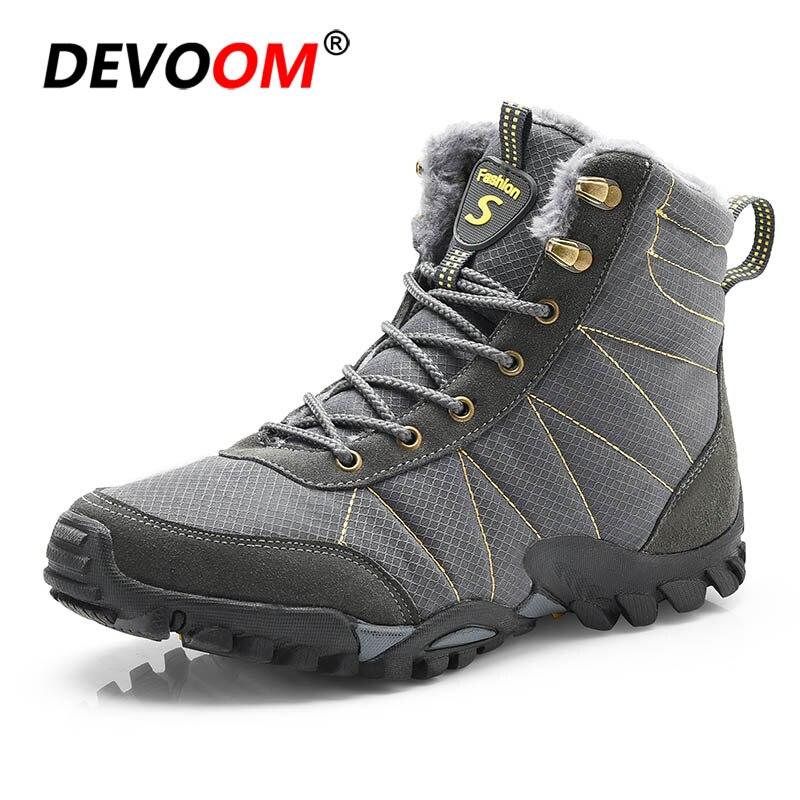 Winter Unisex Snow Shoes Hiking trekking Boots Waterproof of Couples Cotton Inside Antiskid Bottom Keep Warm