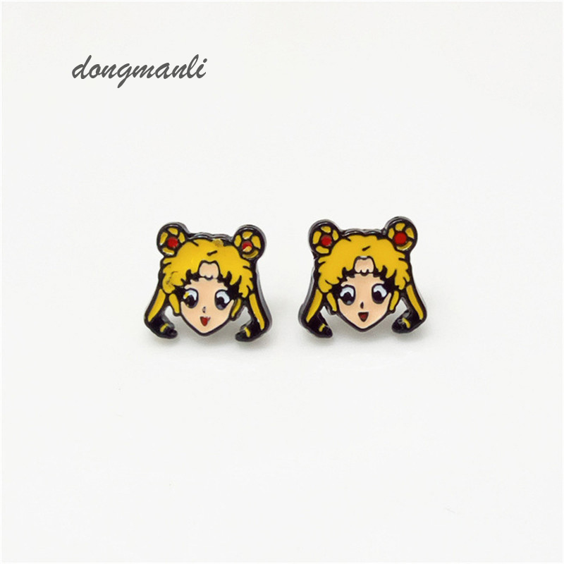 W5313 Animasi Sailor Moon earrings wanita Kristal Tsuking Usagi Princess Serenity anting anime cosplay perhiasan