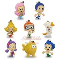 12PCS Bubble Guppies PVC Hot Cartoon 2D Necklaces Pendants For Keychains Key Rings,Mobile Phone Travel Accessories Kids Gifts