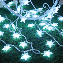 Holiday Wedding Party Christmas Decor LED String light Valentine e's Day Decor LED Star fairy light LED star string light holiday lights huge meteor five pointed star led light string 23cm eu plug xmas christmas wedding valentine day fairy decor cf