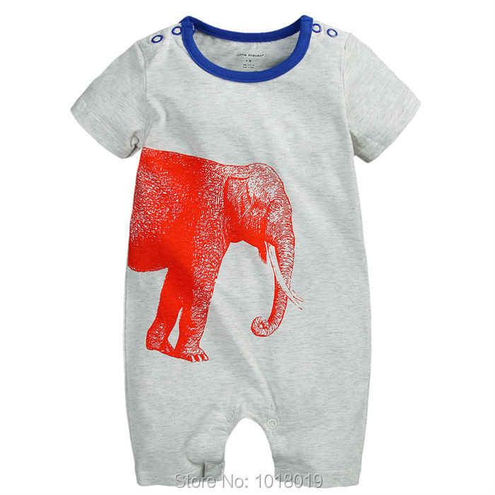 Branded Quality 100% Cotton Ropa Bebe Summer Newborn Baby Boys Clothing Clothes Creeper Jumpsuits Short Sleeve Rompers Baby Boys