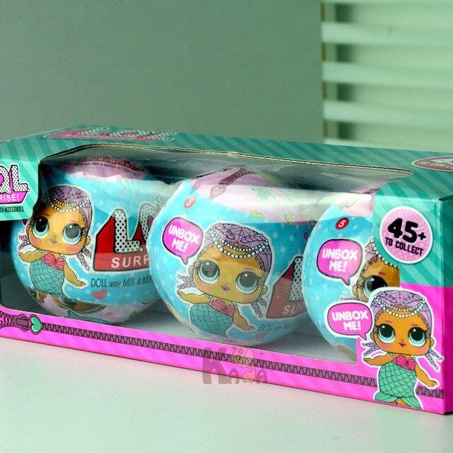 Alboully 3 шт. случайный смешно съемные яйцо мяч игрушки куклы LOL Куклы Детские разорвать Цвет изменить фигурку Игрушечные лошадки рождество подарок