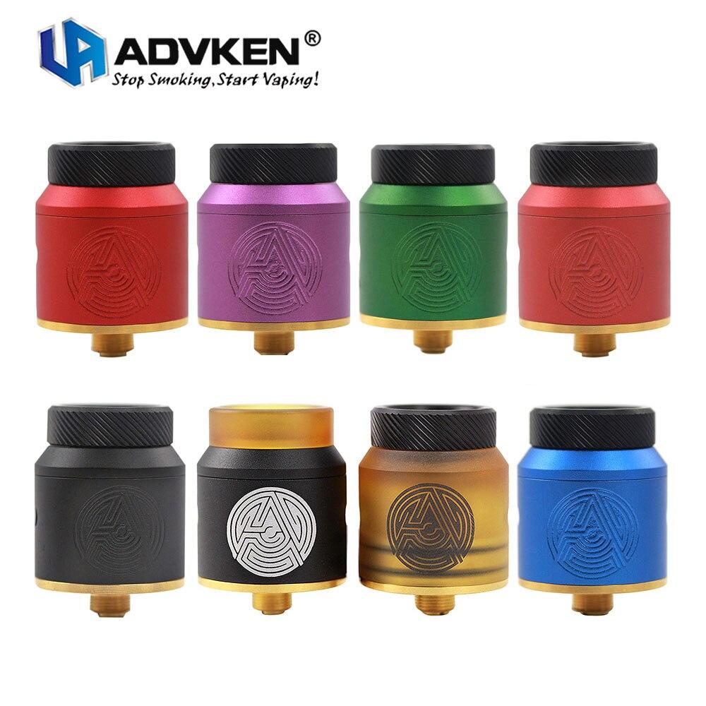 Original Advken Artha RDA 24mm diámetro lado Control de flujo de aire Dual-post diseño Compatible con Squonker MOD E cigs Vape Tank
