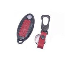 Pacote de shell chave do carro tampa chave auto caso chave chaveiro Acessórios para Nissan X-TRAIL LIVINA QASHQAI SYLPHY TEANA NOVO TIIDA