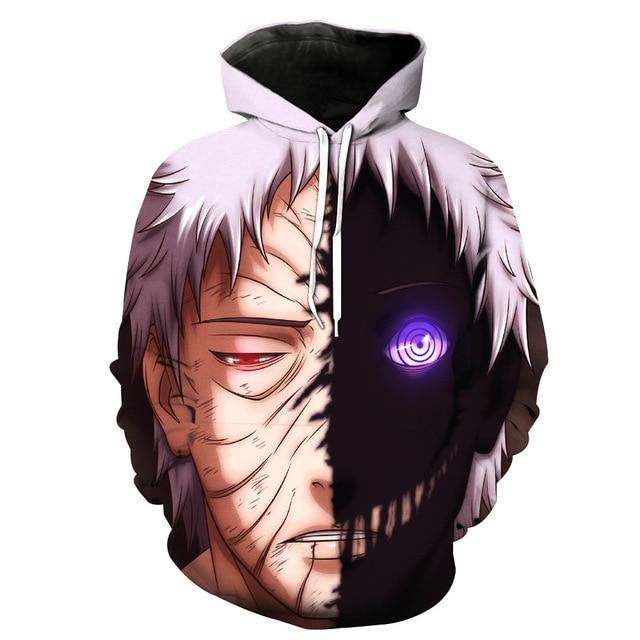Naruto Hip Hop 3D Print Sweatshirt Hoodie