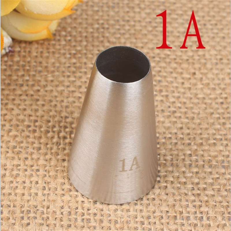 1A Large Round Metal Cake Cream Decoration Tip Stainless Steel Piping Icing Nozzle Pastry Tools in Baking Pastry Tools from Home Garden