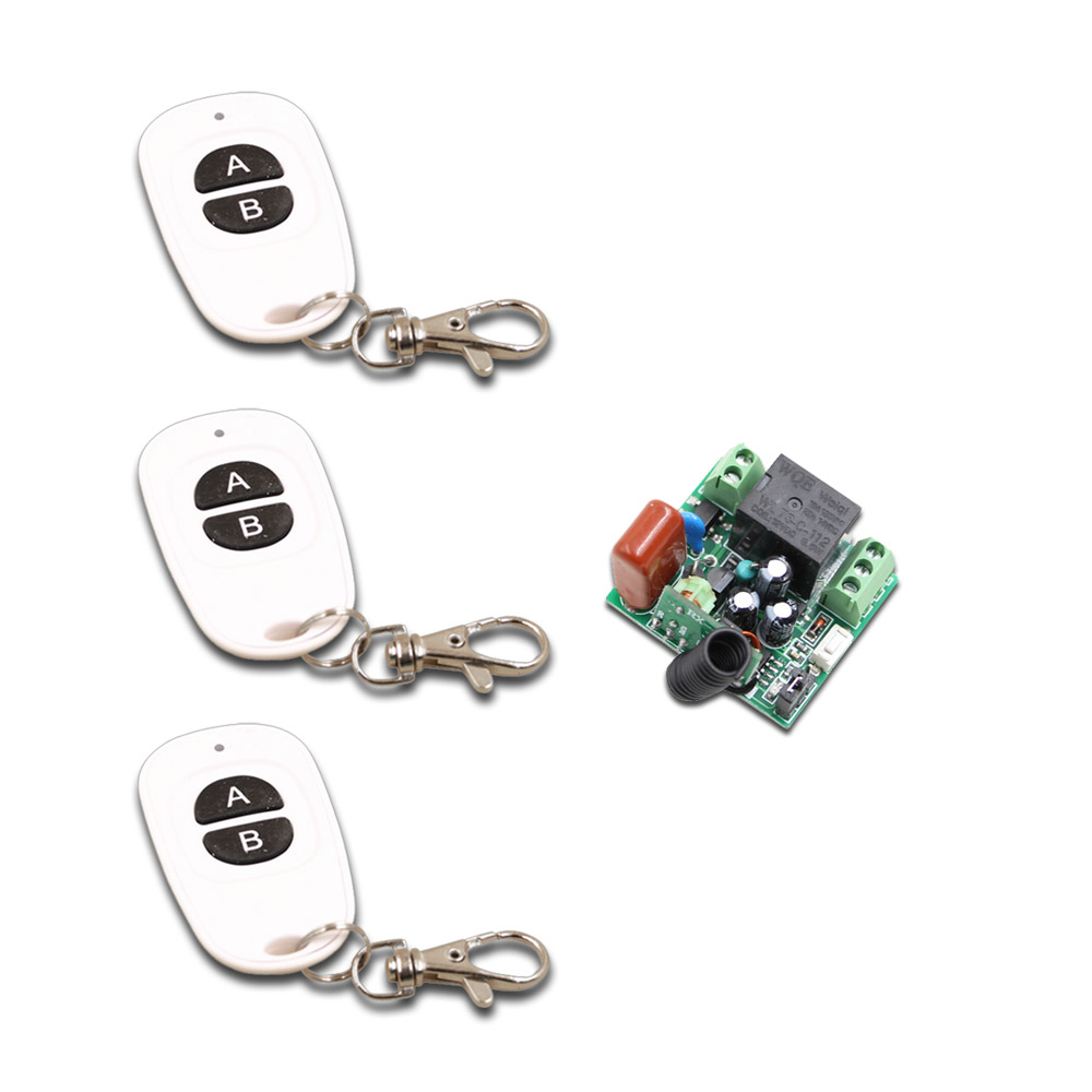 Hot Selling AC 220V RF Wireless Mini Switch Relay Receiver Remote Controllers for Light Switch + White A B Key Transmitter my2n j mini relay relay block ac 220v