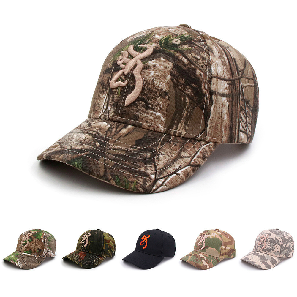 Fashion Camouflage   Cap   Unisex Browning   Baseball     Caps   Women Men Cotton Jungle Outdoor Hunting Hat Soldier Tactical Hats
