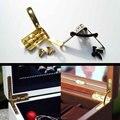 12 unids Mini Caja de Reloj de Exhibición de La Joyería de Oro de Latón Antiguo Pecho Caja de Maquillaje L Soporte de 90 grados de La Bisagra del Resorte