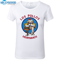 New Summer Los Pollos Hermanos Printed Breaking Bad Chicken Brothers Women T Shirt Sleeve T Shirt
