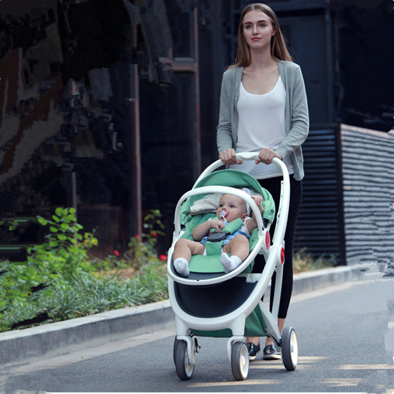 Babyruler Baby Stroller 3 in 1 High Landscape Folding Baby Carriage For Newborn Fashion Pram European Russia Free Shippinng babyruler baby stroller 3 in 1 high landscape aluminum luxury folding baby carriage pram for newborn kinderwagen carrinhos koltu