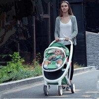 Babyruler Baby Stroller 3 in 1 High Landscape Folding Baby Carriage For Newborn Fashion Pram European Russia Free Shippinng