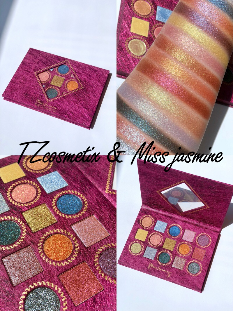 15 Colors Eyeshadow Pallete Diamond Glitter Pressed Shimmer Matte Eyeshadow Palette Highly Pigmented Foiled Makeup Palette 12 colours shimmer matte eyeshadow palette