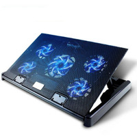 Free Shipping M7 Notebook Radiator Laptop Stand Cooling Pad 5 Fan Adjustable Wind Speed And Bracket