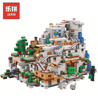 DHL Lepin Set 18032 18008 Minecrafted Village Mountain Cave Model Building Kits Blocks Bricks Toy Compatible Legoing 21137 21128
