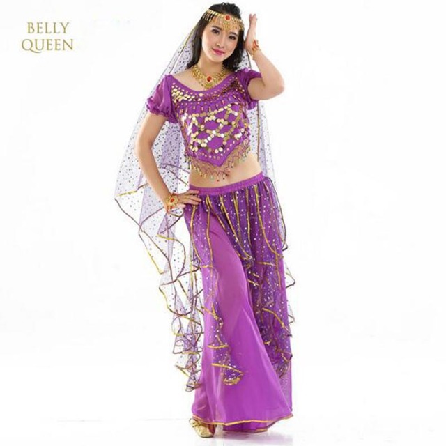 Belly Dance Costumes For Women / Indian Performance Dance wear/ Oriental Dance Clothing 4pcs/Set